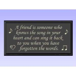 Decorative Wood Sign Plaque Wall Decor with Quote A friend is someone