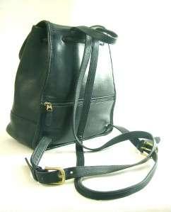 Vintage COACH Classic Black Drawstring Backpack Bag