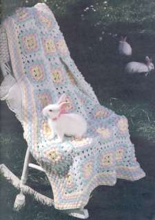 Bunny Rabbit BABY Afghan Crochet Patterns Pattern Book