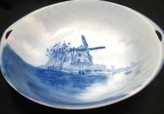 ROSENTHAL DELFT BLUE BOWL Handpainted Windmill Bavaria