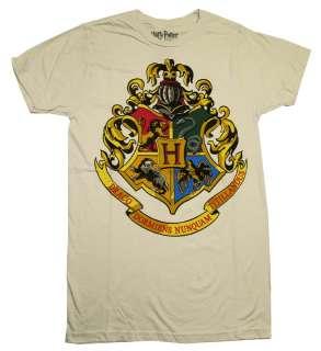 Harry Potter Hogwarts School All Houses Crest T Shirt Tee
