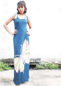 Sexy Butterfly Print Party Long Maxi Dress S M L XL