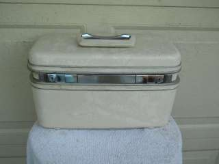 Marble Hard Shell Luggage Train Case 14x8x9 Clean Inside & Out