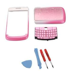 Replacement 4 Piece Housing for BlackBerry 9700 Pink(Flower Pattern