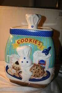 Pillsbury Dough Boy cookie Jar & cookie Platter Danbury Mint 2002 W/ C