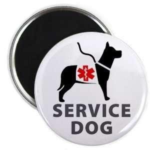 Creative Clam Black Service Dog Alert Medical Alert 2.25