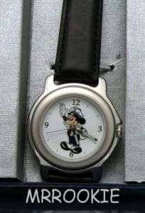 DISNEY Limited Ed Security Guard Mickey Mouse WATCH NEW