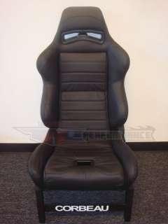 Corbeau LG1 Black Leather Reclining Racing Seat Driver Side   Blem LG
