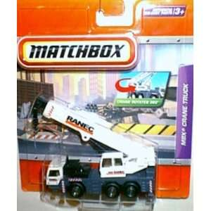 Matchbox Ranec MBX Crane Truck Real Working White Toys & Games