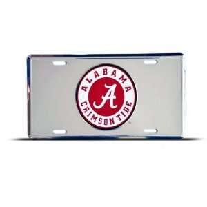 Alabama Crimson Tide Metal College License Plate Wall Sign