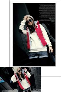 NEW Fashion Women chic Hooded Cotton waistcoat padded Vest