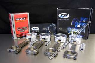 CP Forged Pistons Manley Turbo Tuff I Beam Rods Integra GSR B18C1 9.0