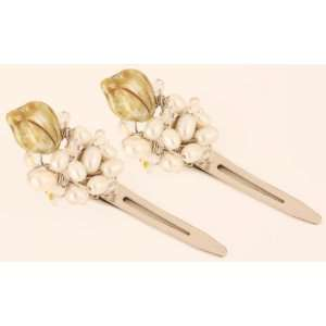 Pearl and Swarovski Crystal Hair Clips Beauty
