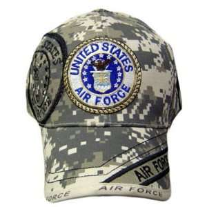 AIR FORCE SEAL DIGITAL STONE CAMOUFLAGE CAP HAT ADJ
