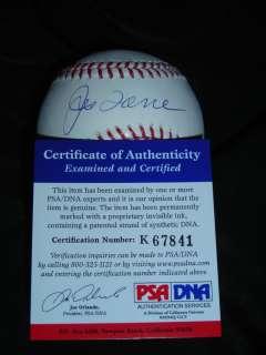 Joe Torre Signed AUTO Dodgers NEW YORK YANKEES Ball Baseball PSA/DNA