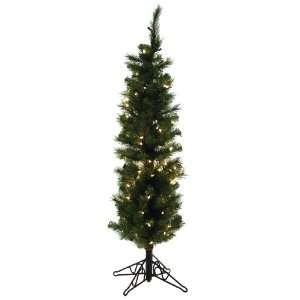 Artificial Prelit Christmas Tree, 4 Feet, Clear Lights
