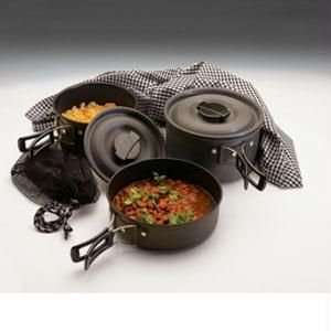 Scouter Black Ice Hard Anodized QT Cook Set Sports