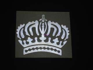 Reflective CROWN Iron On Heat Transfer King Princess