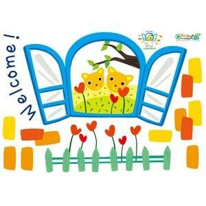 Flower Garden Scene   Reusable Easy Instant Decoration Wall Sticker