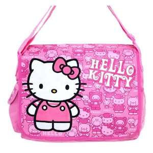 Sario Large 13 Inch Carry All Pink Hello Kitty Messenger