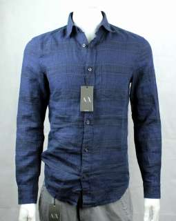 Armani Exchange AX Linen Print Shirt/Top