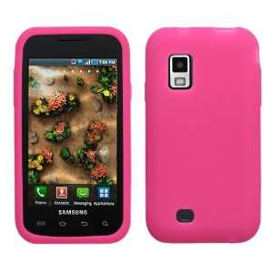 SAMSUNG ANDROID GALAXY S FASCINATE i500 HOT PINK SOLID SILICONE SKIN