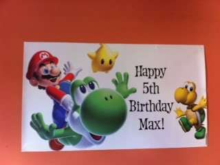 Super Mario Brothers Bros Birthday Party Banner  Choice