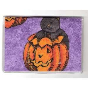 Debit Check Card Gift Card Drivers License Holder Black Cat Pumpkin