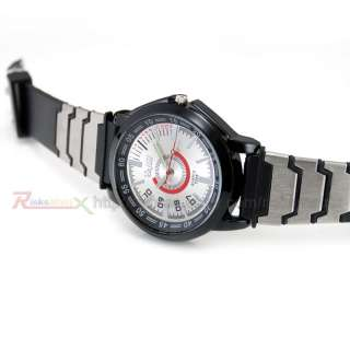 Man Lady Military Sport Army Rubber/Fabric Strap Watch