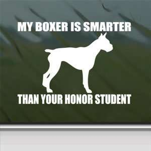 Boxer White Sticker Funny Window Vinyl Laptop White Decal