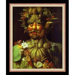 Vertumnus by Giuseppe Arcimboldo   Framed Artwork Home & Kitchen