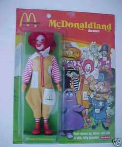 RARE 1976 REMCO RONALD MCDONALD DOLL MINT ON CARD