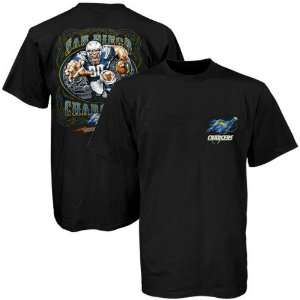 NFL San Diego Chargers Black Runback Graphic T shirt