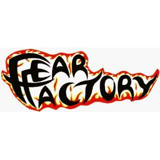Fear Factory   Logo with Flames   Large Jumbo Vinyl Sticker / Decal