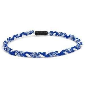TWISTER Ionic Titanium Germanium Power Necklaces ROYAL BLUE/WHITE