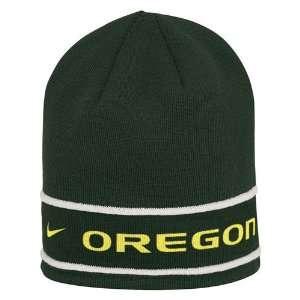 Nike Oregon Ducks Green Year Round Knit Beanie: Sports