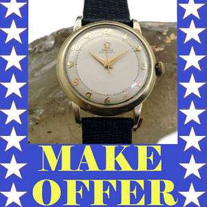 OMEGA EARLY BUMPER AUTOMATIC MENS WATCH ORIGINAL TWO TONE DIAL