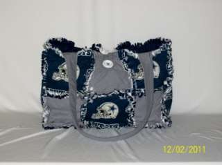 Dallas Cowboy Blue Gray Rag Quilt Diaper Bag Tote Purse GREAT GIFT