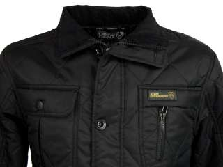 Mens Dissident Quilted Newark Hunter Style Military Jacket/ Coat