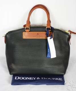 Dooney & Bourke Dillen Black Leather Satchel Bag Purse DE668 BL $235