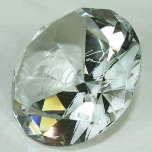 Michael Kors Faceted Glass Diamond Shaped Clear Paperweight