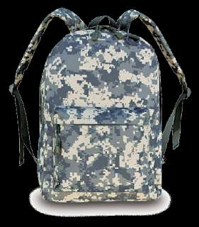 NEW ACU ARMY CAMO DAY PACK WATER RESISTANT PADDED BACK & STRAPS FREE