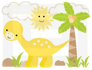 DINOSAURS NURSERY BABY BOY WALL BORDER STICKERS DECALS
