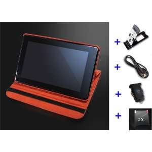 Wecase® Premium Leather Kindle Fire Case Bundle (Leather Case + Car