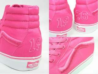NEW VANS SHOES DIVISION 1 HOT PINK 9 M 10.5 W SK8 HI