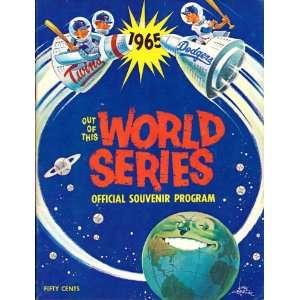 1965 Los Angeles Dodgers World Series Program Sports