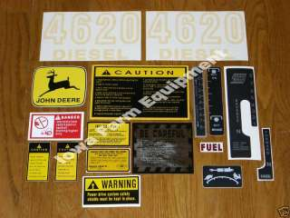 John Deere 4620 Decals Set Gas & Diesel Power Shift