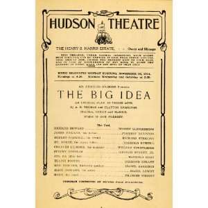 1914 Ad Hudson Theatre Big Idea Gilmore Glendinning   Original Print