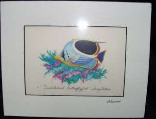 LARRY DOTSON Hand Signed Print HAWAII Tropical FISH