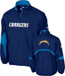Official Reebok San Diego Chargers NFL Hot 1/4 Zip Jackets rrp$90 All